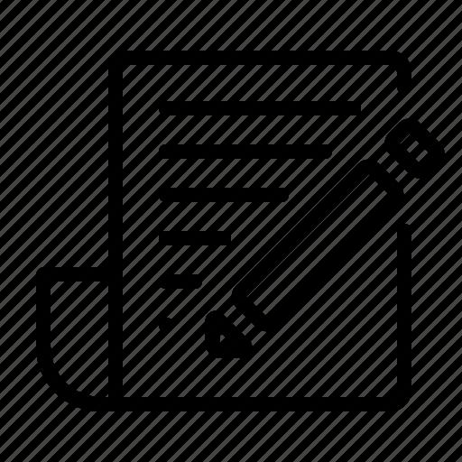 blog, document, edit, write icon
