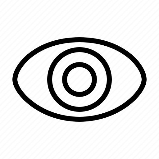 eye, open, view, visible icon