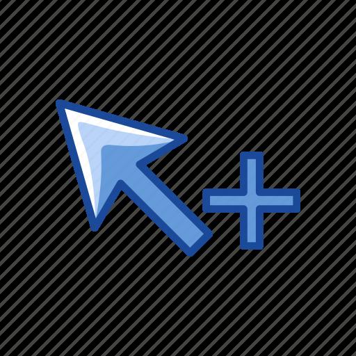 adobe tool, arrow, group selection tool, plus icon