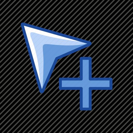 add, adobe tool, arrow head, group selection tool icon