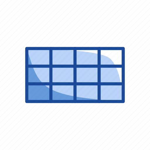chart, grid, rectangular grid, table icon