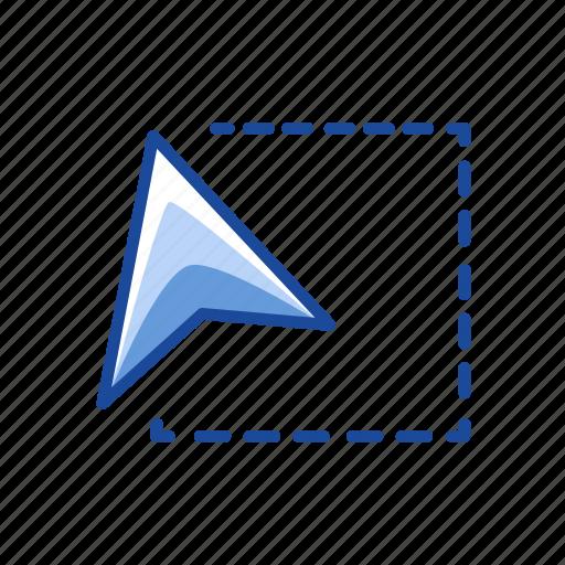 adobe tool, arrow head, dotted lines, free transform tool icon