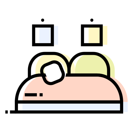 bed, interior, pictures, pilows icon