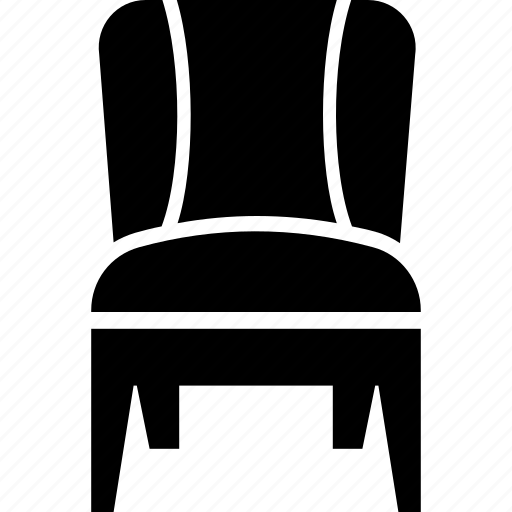 cushioned chair, desk chair, dining chair, furniture, seat icon