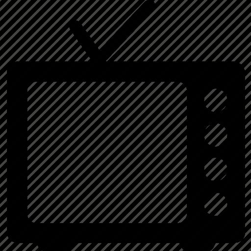 antenna tv, idiot box, retro tv, television, tv set icon