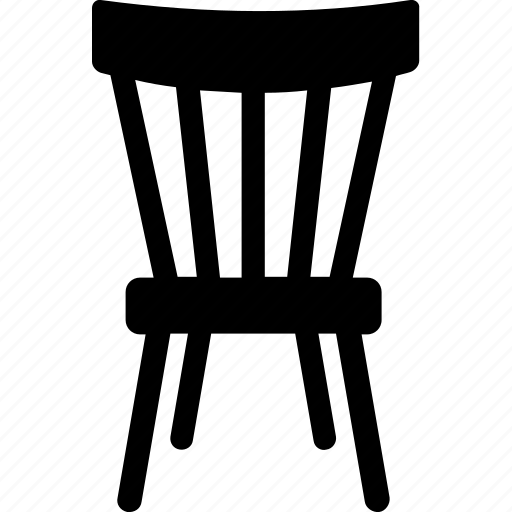 chair, dining chair, domestic furniture, furniture, seat icon