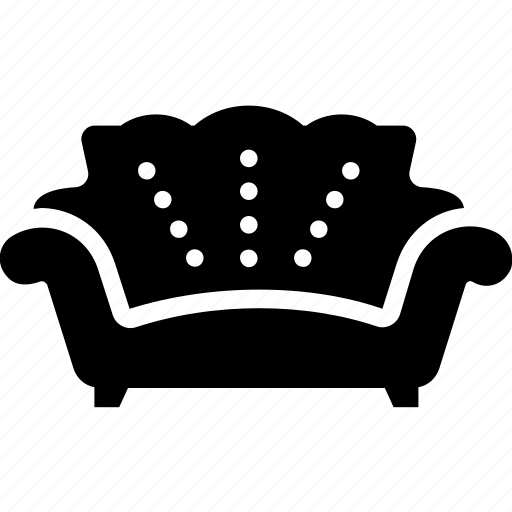 couch, furniture, lounge interior, settee, sofa icon