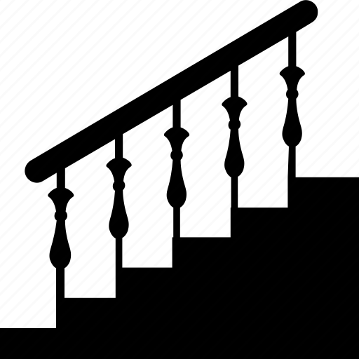home staircase, indoor stairs, staircase, stairs, stairs railing icon