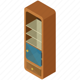 bookcase, decor, furnishings, furniture, interior, shelf, shelves icon