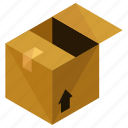 box, decor, furnishings, interior, package, packing icon