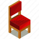 chair, decor, dining, diningroom, furnishings, interior, seat icon