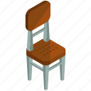 chair, decor, dining, furnishings, furniture, interior icon