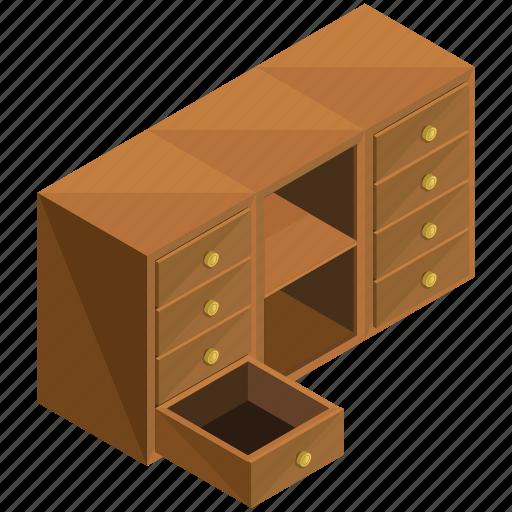 decor, drawers, furnishings, furniture, interior icon