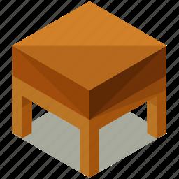decor, endtable, furnishings, furniture, interior icon