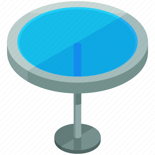 Decor, furnishings, furniture, glass, interior, round, table icon - Download on Iconfinder