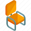 chair, decor, furnishings, furniture, interior, metal icon