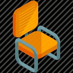 chair, decor, furnishings, furniture, interior, metal icon
