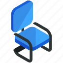 chair, decor, desk, furnishings, furniture, interior, office icon