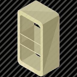 decor, furnishings, furniture, interior, rounded, shelf, shelves icon