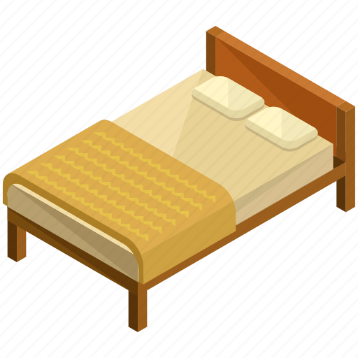 bed, bedroom, decor, frame, furnishing, interior, wooden icon