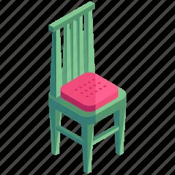 chair, decor, dining, diningroom, furnishings, interior, wooden icon