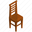 chair, decor, diningroom, furnishings, interior, wooden icon