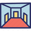 gangway, corridor, passageway, aisle, hallway icon