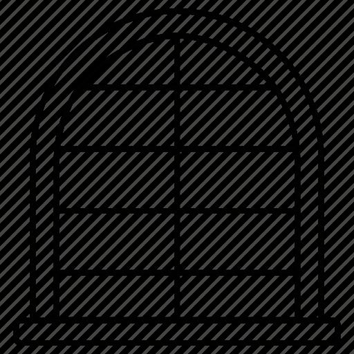 house, interior, window icon
