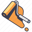 color, house, interior, paint, roller, tool, wall icon