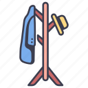 clothes, coat, furniture, hanger, hat, rack, stand icon