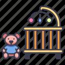 baby, child, home, interior, kid, room, toys icon
