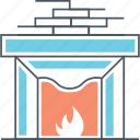 burn, chimney, fire, fireplace, flame icon