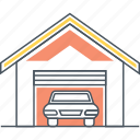 car, carport, garage, vehicle icon