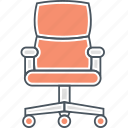 chair, desk chair, ergonomic, office chair icon