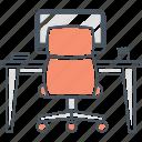 desk, office icon