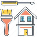 construction, home, house, paint, painting, renovation, repair icon
