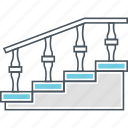 staircase, stairs, steps icon