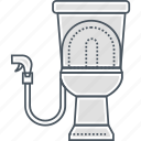 bathroom, bidet, restroom, toilet, wc icon