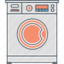 appliance, laundromat, laundry, washer, washing, washing machine icon