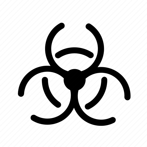 atomic, biohazard, caution, experiment, nuclear, science icon