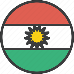 asian, country, flag, kurdish, kurdistan, national, region icon