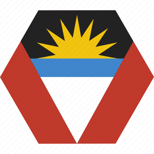 antigua, barbuda, caribbean, flag, national icon