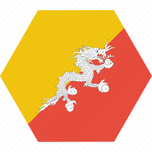 asian, bhutan, bhutanese, country, flag, national icon