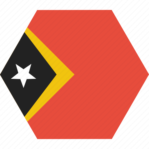asian, country, east, flag, national, timor, timorean icon
