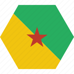 country, flag, french, guiana, guianese, national icon