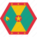 country, flag, grenada, grenadian, national icon