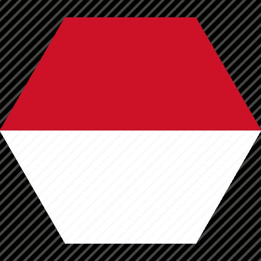country, european, flag, monacan, monaco, national icon