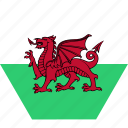 country, european, flag, national, wales, welsh
