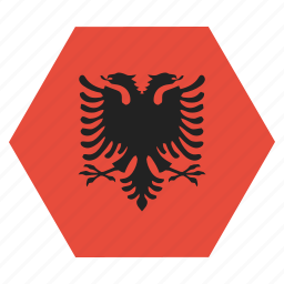 albania, country, european, flag, national icon