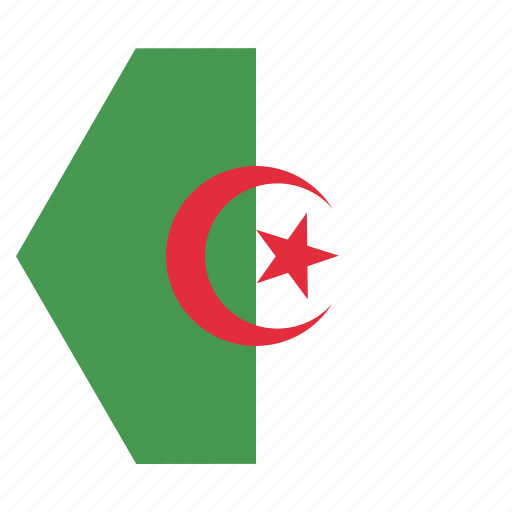 african, algeria, algerian, country, flag, national icon